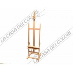 MAIMERI CAVALLETTO GRANDE DA STUDIO - IN FAGGIO OLIATO - ALTEZZA MAX TELA 120 cm