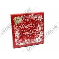 AMBIENTE - TOVAGLIOLI LUNCH - MERRY CHRISTMAS RED - 33x33cm - CONFEZIONE 20 PZ