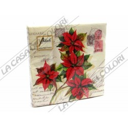 AMBIENTE - TOVAGLIOLI LUNCH - CHRISTMAS GREETINGS - 33x33cm - CONFEZIONE 20 PZ