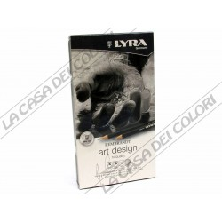 LYRA REMBRANDT - SET ART DESIGN - 12 MATITE IN GRAFITE ASSORTITE - DA 4H A 6B