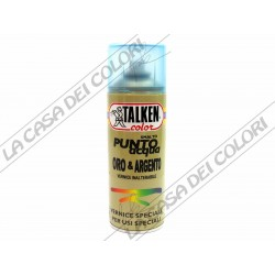 TALKEN - PUNTO ACQUA  - ARGENTO PERLATO - SMALTO ALL'ACQUA  -  SPRAY  400 ml
