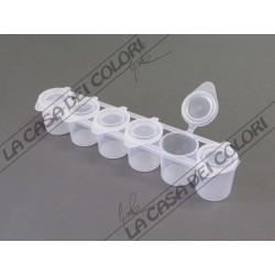 CONTENITORE ERMETICO -  6 CONTENITORI DA 25 ml