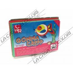 CWR - GOMMA CREPP - SET 10 FOGLI 14x20cm - COLORI ASSORTITI - GOMMA CREPLA