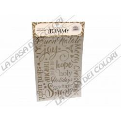 TOMMY ART - STENCIL 21x30cm - SP300 - BUON NATALE