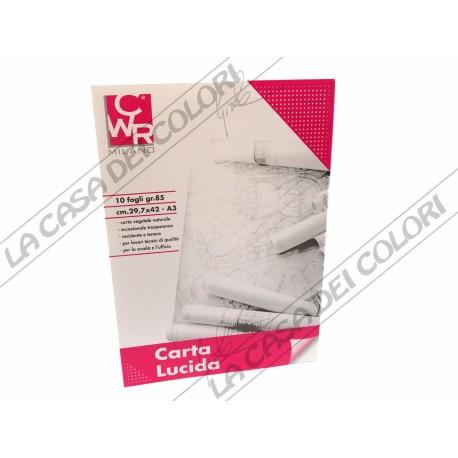 CWR - CARTA DA LUCIDO - A3 - BLOCCO 10 FOGLI - 80 g/mq