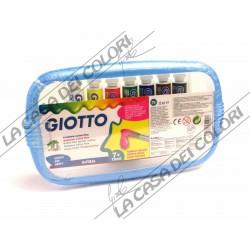 GIOTTO - TEMPERA EXTRA FINE - 7 TUBI DA 12 ml - PENNELLO INCLUSO