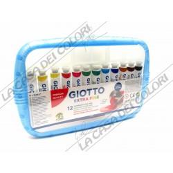 GIOTTO - TEMPERA EXTRA FINE - 12 TUBI DA 12 ml - PENNELLO INCLUSO