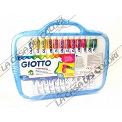 GIOTTO - TEMPERA EXTRA FINE - 24 TUBI DA 12 ml - PENNELLO INCLUSO