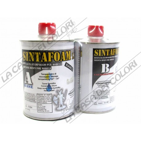 PROCHIMA - SINTAFOAM BIANCO 1.1 - 1 kg - RESINA POLIURETANICA AD ALTA FLUIDITA'