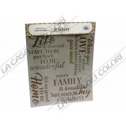 TOMMY ART - STENCIL 34x38cm -STE084 - HOME LOVE LIFE FAMILY