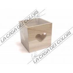 RAYHER - PORTALUMINO IN LEGNO - 10x10x10cm