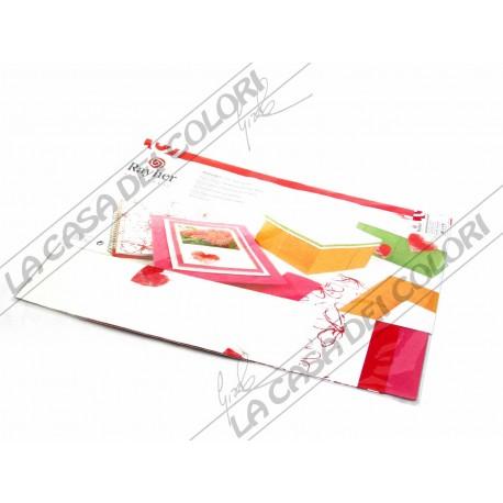 RAYHER - CARTA NATURALE - TONO ROSSO - BUSTA 5 FOGLI 30x30cm - 80/110 g/mq