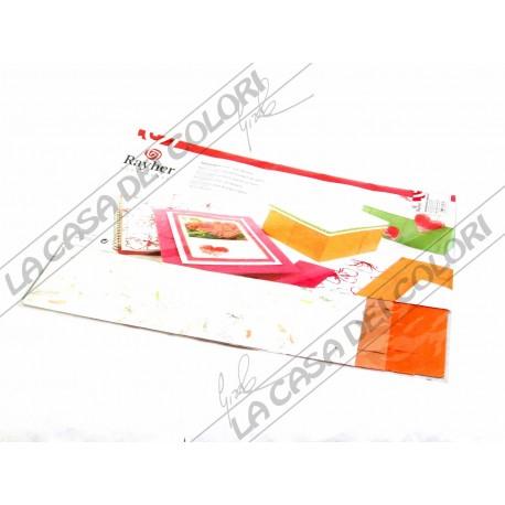 RAYHER - CARTA NATURALE - TONO ARANCIO - BUSTA 5 FOGLI 30x30cm - 80/110 g/mq
