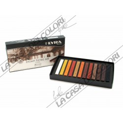 LYRA REMBRANDT - POLYCRAYONS SOFT - BROWN TONES SET - CONF. 12 GESSETTI