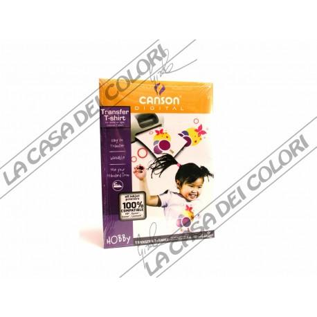 CANSON - CARTA TRANSFERT PER T-SHIRT - FORMATO A4 - CONF. 10 FOGLI