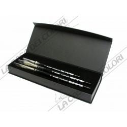 Da Vinci - set regalo per acquarello CASANEO - fibra sintetica - 3 pennelli