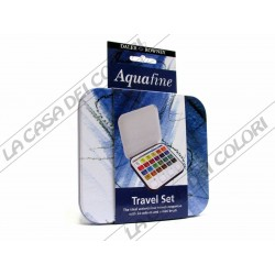 DALER ROWNEY - AQUAFINE - TRAVEL SET - 24 1/2 GODET - TIN BOX