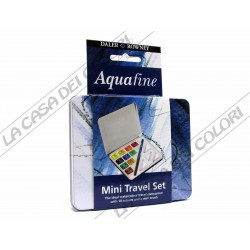 DALER ROWNEY - AQUAFINE - TRAVEL SET - 10 1/2 GODET - TIN BOX
