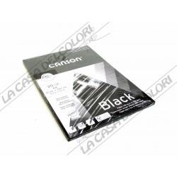 CANSON BLACK - 240 g/mq -  A4 - BLOCCO COLLATO LATO CORTO