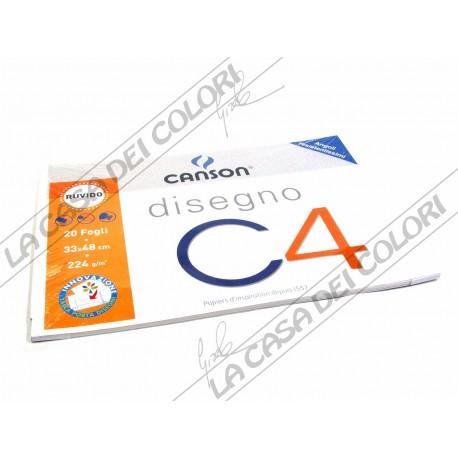 CANSON C4 -RUVIDO - 224 g/mq - 33x48cm - BLOCCO 20FG 4 ANGOLI