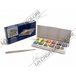 WINSOR & NEWTON - COTMAN - SKETCHERS' POCKET BOX - 12 MEZZI GODET + 1 PENNELLO