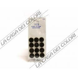 FELTRINI AUTOADESIVI TONDI MARRONI - DIAM. 18mm - SPESS. 3mm
