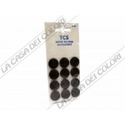 FELTRINI AUTOADESIVI TONDI MARRONI - DIAM. 20mm - SPESS. 3mm