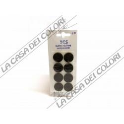 FELTRINI AUTOADESIVI TONDI MARRONI - DIAM. 24mm - SPESS. 3mm