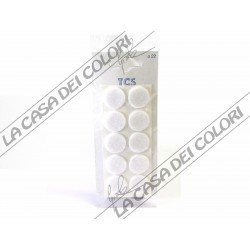 FELTRINI AUTOADESIVI TONDI BIANCHI - DIAM. 22mm - SPESS. 3mm
