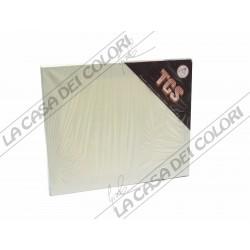 TELAIO TELATO - COTONE 100% - 25x30cm - GRANA FINE -GRAFFETTATA SUL RETRO