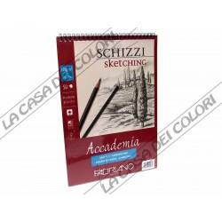 FABRIANO - ACCADEMIA SCHIZZI - A4 - 120 g/mq - ALBUM 50 FOGLI CON SPIRALE
