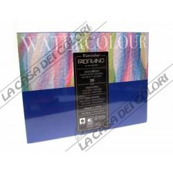 FABRIANO - WATERCOLOUR - 24x32cm - 300 g/mq - GRANA FINE - CARTA COTONE 25%