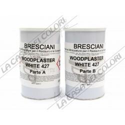 WOODPLASTER WHITE 427 - 1 kg (500+500g) - STUCCO EPOSSIDICO PER LEGNO - WOOD PLASTER