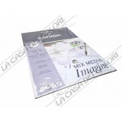 CANSON IMAGINE - 200 g/mq - A1 - 25 FOGLI - BLOCCO COLLATO LATO CORTO