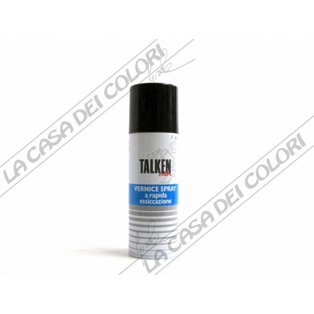 TALKEN - VERNICE SPRAY A RAPIDA ESSICAZIONE - 200 ml - f. 601 NERO LUCIDO