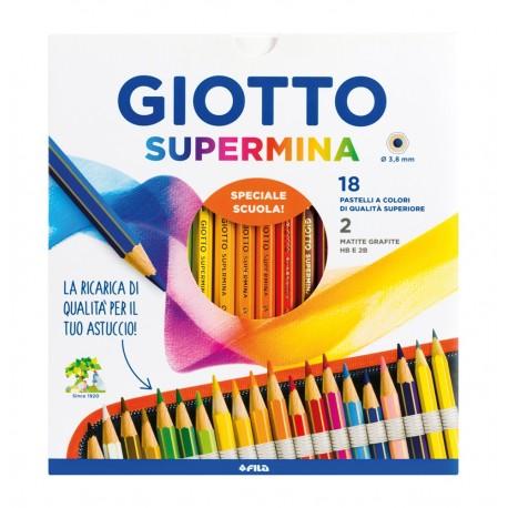 GIOTTO SUPERMINA -  18 PATELLI + 2 MATITE (HB E B)