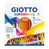 GIOTTO SUPERMINA -  18 PASTELLI + 2 MATITE (HB E B)
