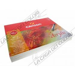 CANSON ACRILICO - 24x32 cm 400 g/mq - GR. FINE - BLOCCO 50 FG - PER ACRILICI