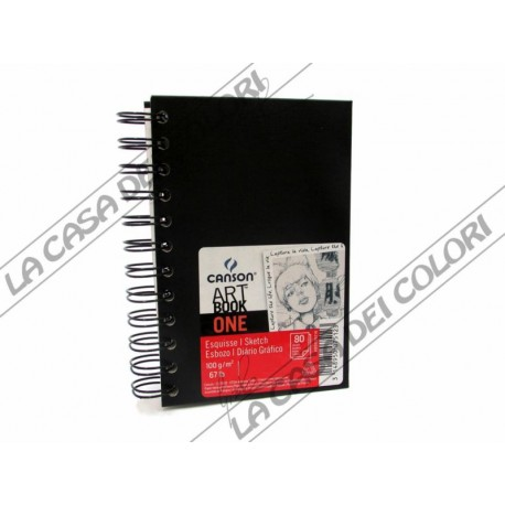 CANSON - ART BOOK ONE - 21,6x27,9 cm - CARTA 100 g/mq - SPIRALATO