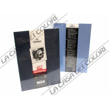 CANSON - ART BOOK INSPIRATION - A6 10,5x14,8 cm - 96g/mq - 1 INDACO + 1 LAVANDA