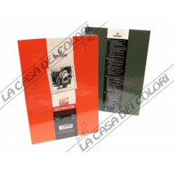 CANSON - ART BOOK INSPIRATION - A4 21x29,7 cm - 96g/mq - 1 ARANCIO + 1 VERDE