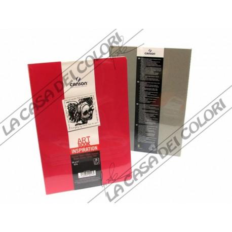 CANSON - ART BOOK INSPIRATION - A5 14,8x21 cm - 96g/mq - 1 ROSSO + 1 GRIGIO
