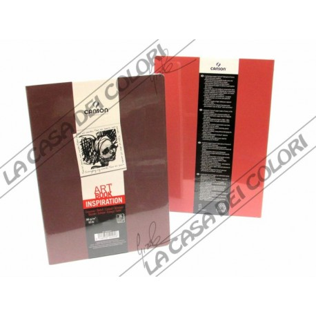 CANSON - ART BOOK INSPIRATION - A4 21x29,7 cm - 96g/mq - 1 MOSTO + 1 TERRA ROSSA