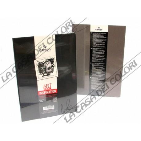 CANSON - ART BOOK INSPIRATION - A5 14,8x21 cm - 96g/mq - 1 NERO + 1 GRIGIO