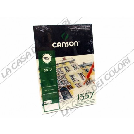CARTA CANSON 1557 - 180 g/mq -  A4 - BLOCCO COLLATO LATO CORTO