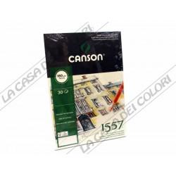 CARTA CANSON 1557 - 180 g/mq -  A3 - BLOCCO COLLATO LATO CORTO