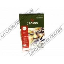 """CANSON """"C"""" A GRAIN - 224 g/mq - A4+ - ALBUM SPIRALATO LATO CORTO"""