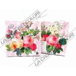 IHR - TOVAGLIOLI LUNCH - BEAUTY ROSE - 33x33cm - 20 PZ - L492650 - 12-01