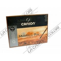 CANSON MOULIN DU ROY - 30,5x45,5 cm - GRANA GROSSA / RUVIDA 300 g/mq  - 100% COT. - BLOCCHI COLLATI 4 LATI
