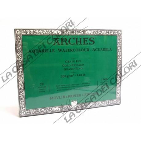ARCHES AQUARELLE - 31x41 cm - 300 g/mq GRANA FINE - BLOCCHI COLLATI 4 LATI